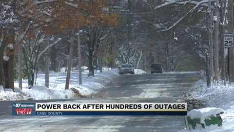 Cass County Residents brave the cold, despite temporary power outage